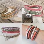 NiRaMi-Schmuckstücke aus Leder und Perlen